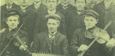 Spelemenn frå Erfjord ca. 1910 (Ryfylkemuseet)
